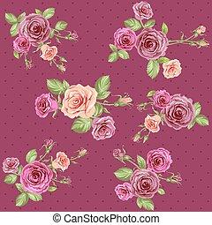 ouderwetse , floral, achtergrond