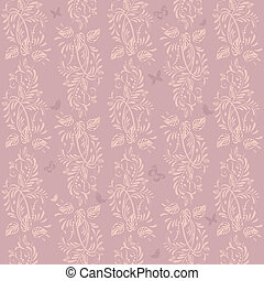 ouderwetse , floral, achtergrond, seamless