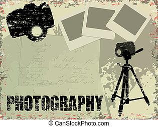 ouderwetse , fotografie, poster