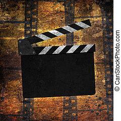 ouderwetse , frame, achtergrond, film