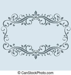 ouderwetse , frame, bladeren