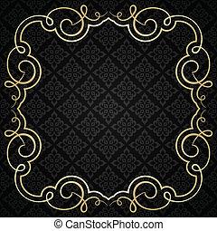 ouderwetse , frame., calligraphic