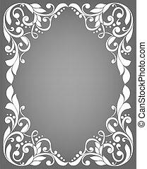 ouderwetse , frame, filigraan