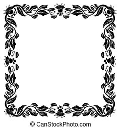 ouderwetse , frame, gebladerte