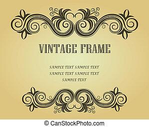 ouderwetse , frame, ontwerp