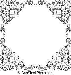 ouderwetse , frame, ornament