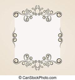 ouderwetse , frame, retro