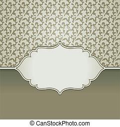 ouderwetse , frame, vector, de ruimte van het exemplaar