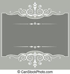 ouderwetse , frame, vector