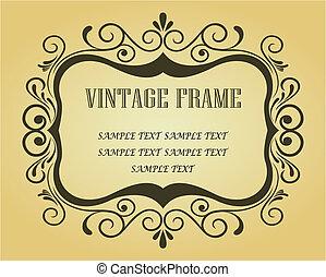 ouderwetse , frame, voor, ontwerp