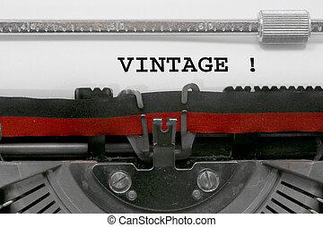 ouderwetse , geschreven, door, de, typemachine