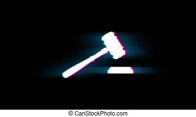ouderwetse , hamer, retro, justitie, rechter, versieren,...