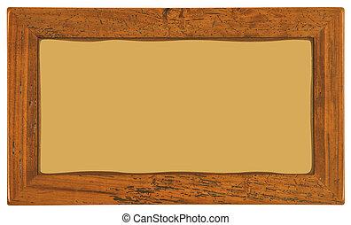 ouderwetse , houten afbeelding omlijsting