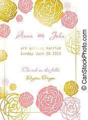 ouderwetse , huwelijk uitnodiging