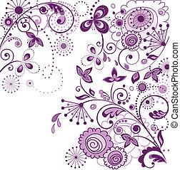 ouderwetse , kaart, viooltje