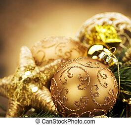 ouderwetse , kerst decoraties