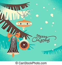 ouderwetse , kerstmis, achtergrond