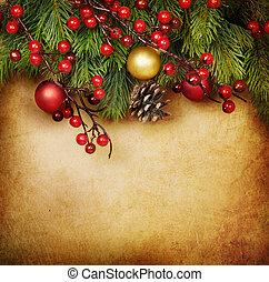 ouderwetse , kerstmis kaart