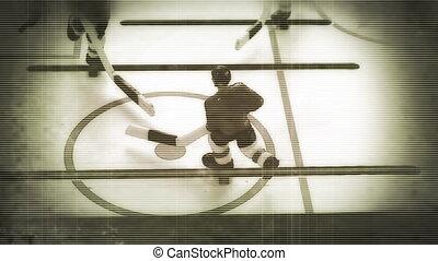 ouderwetse , kleur versterkt, ijshockey