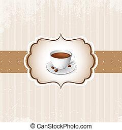 ouderwetse , koffie, achtergrond