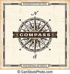 ouderwetse , kompas, etiket