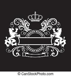 ouderwetse , koninklijk, schild