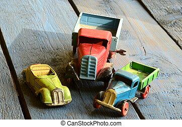 ouderwetse , (lorries), vrachtwagens, speelgoed