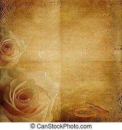 ouderwetse , mooi, trouwfeest, achtergrond