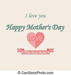 ouderwetse , mothers's, achtergrond, typographical, dag, vrolijke
