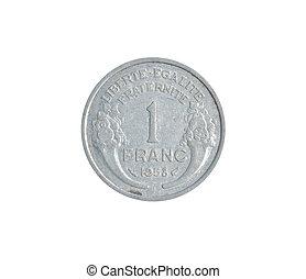 ouderwetse , munt, gemaakt, door, frankrijk