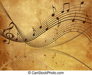 ouderwetse , muziek, achtergrond