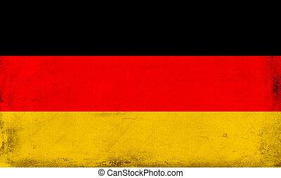 ouderwetse , nationale vlag, van, duitsland, achtergrond