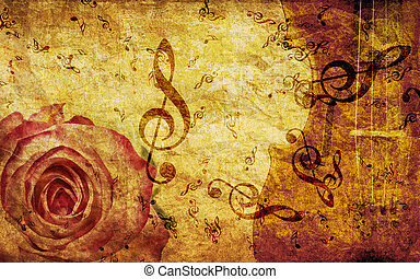 ouderwetse , opmerkingen, achtergrond, roos