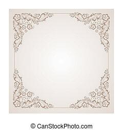 ouderwetse , ornament, square., radiaal