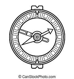 ouderwetse , oud, kompas