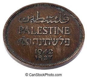 ouderwetse , palestina, 1, mil, -, kruis, hoge hoek