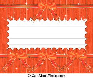 ouderwetse , papier, designs:, gevarieerd, aantekening, papieren, op, hout, gereed, voor, jouw, message., vector, illustration.