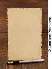 ouderwetse , papier, perkament, hout