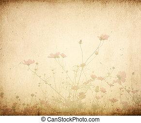 ouderwetse , papierbloem, achtergrond