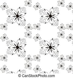 ouderwetse , pattern., seamless, achtergrond., vector, floral