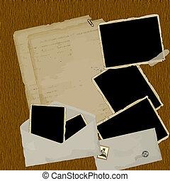 ouderwetse , plakboek, samenstelling