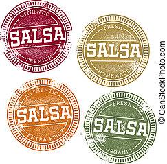 ouderwetse , postzegels, mexicaans salsa