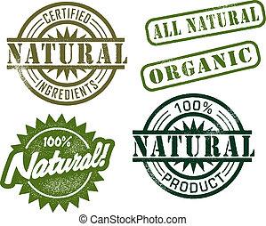 ouderwetse , postzegels, natuurlijke
