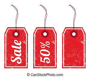 ouderwetse , prijs, verkoop, markeringen