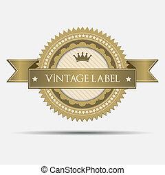 ouderwetse , retro, etiket