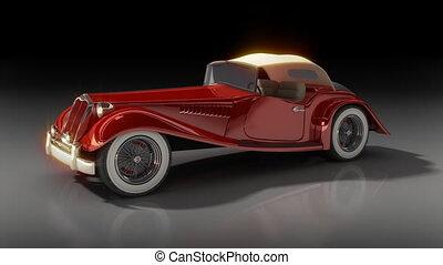 ouderwetse , rode auto