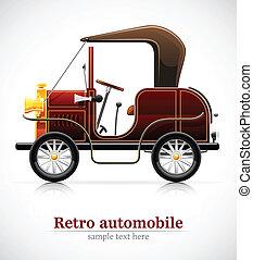 ouderwetse , rood, auto