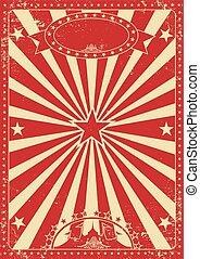 ouderwetse , rood, circus