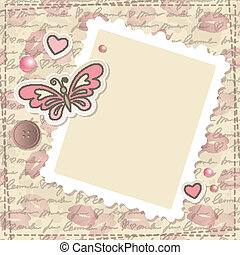 ouderwetse , set, scrapbooking