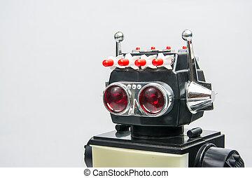 ouderwetse , speelbal, retro, robot, classieke